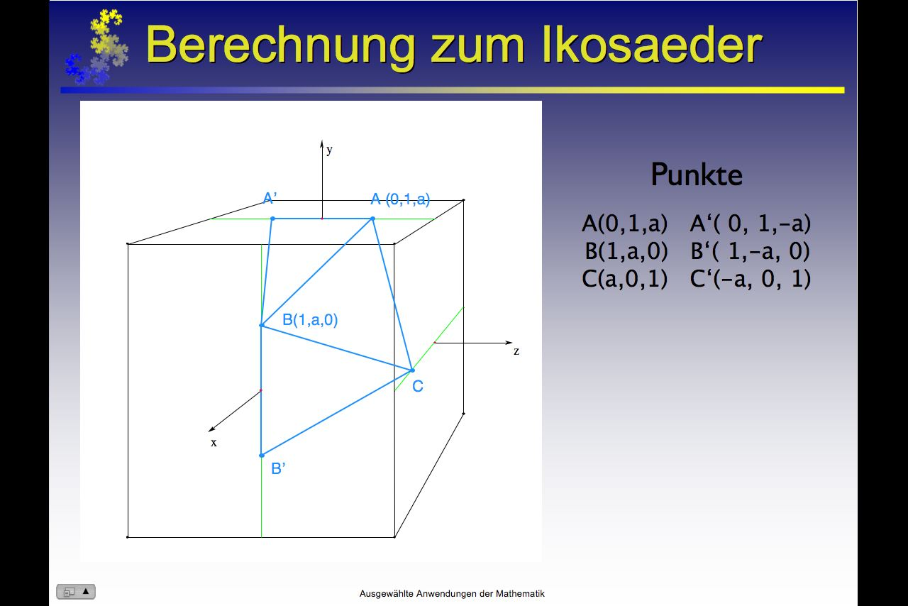 """... """" Vom Würfel über den Oktaeder zum Ikosaeder """" (Quicktime, 3,2 MB"""
